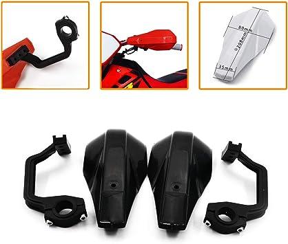 JFG-RACING Black Handguards Hand Guards Universal for 7//8 and 1 1//8 Brush Bar For off Road ATV Yamaha Kawasaki Suzuki For Honda Motorcycle Pit Dirt Bike Motocross