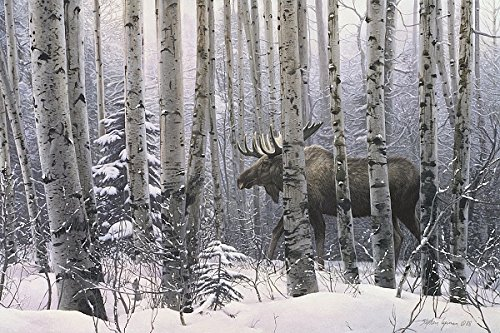 A Walk In The Woods Stephen Lyman Moose Trees Art Print Post