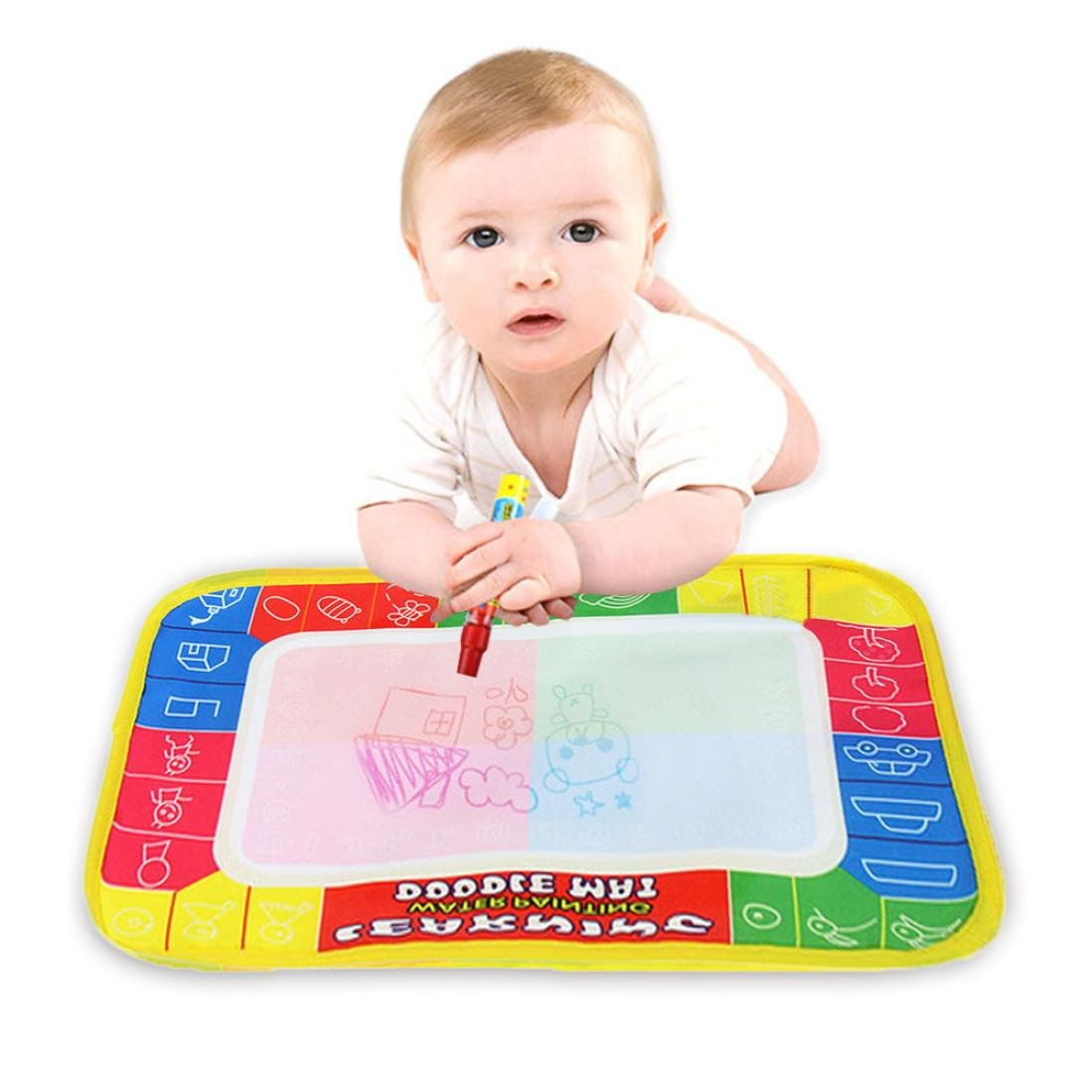 Rucan Clearance Water Drawing Painting Writing Mat Board Magic Pen Doodle Toy Gift 29 x 19cm