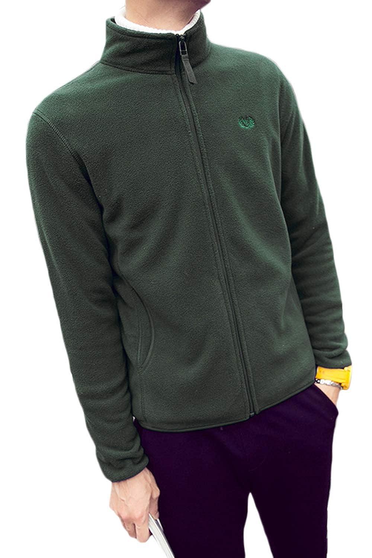 Men Fuzzy Sweatshirt Casual Full Zip Plush Fluffy Jacket Coats