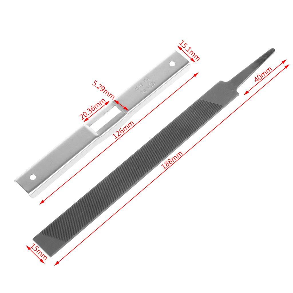 YUNAWU Chainsaw Lawn Mower Depth Gauge Steel Flat File Sharpening Tool Kit Guide Tester by YUNAWU (Image #2)
