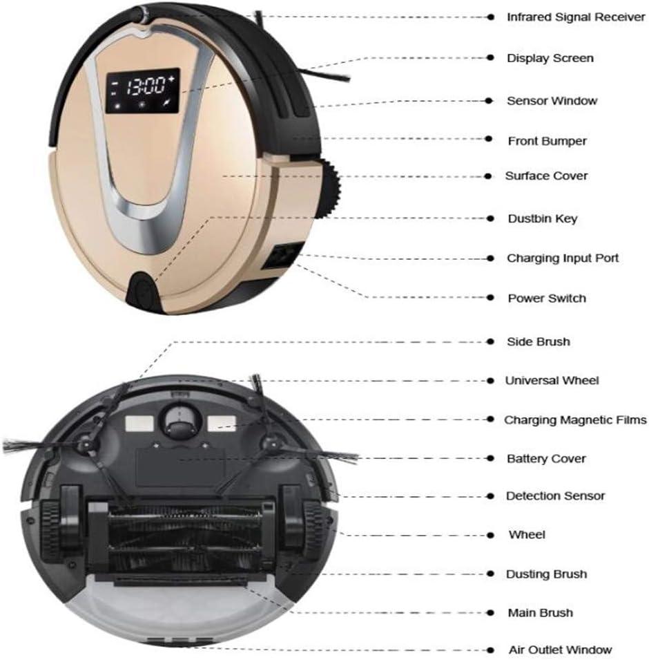 ZXL Robot Aspirateur Balayeuse Planification de Charge Automatique Nettoyage Robot de Balayage Silencieux à Induction Intelligente pour Le Nettoyage des Cheveux,A A