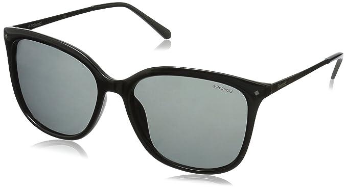 9030cac7bcd Polaroid Sunglasses Women s Pld4043s Square Sunglasses BLACK RUTHENIUM GRAY  POLARIZED 57 mm