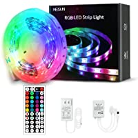 16.4 FT LED Strip Lights, MESUN RGB Flexible Light Strip Kit with 44 Key IR Remote RGB Controller, LED Rope Strip Lights…