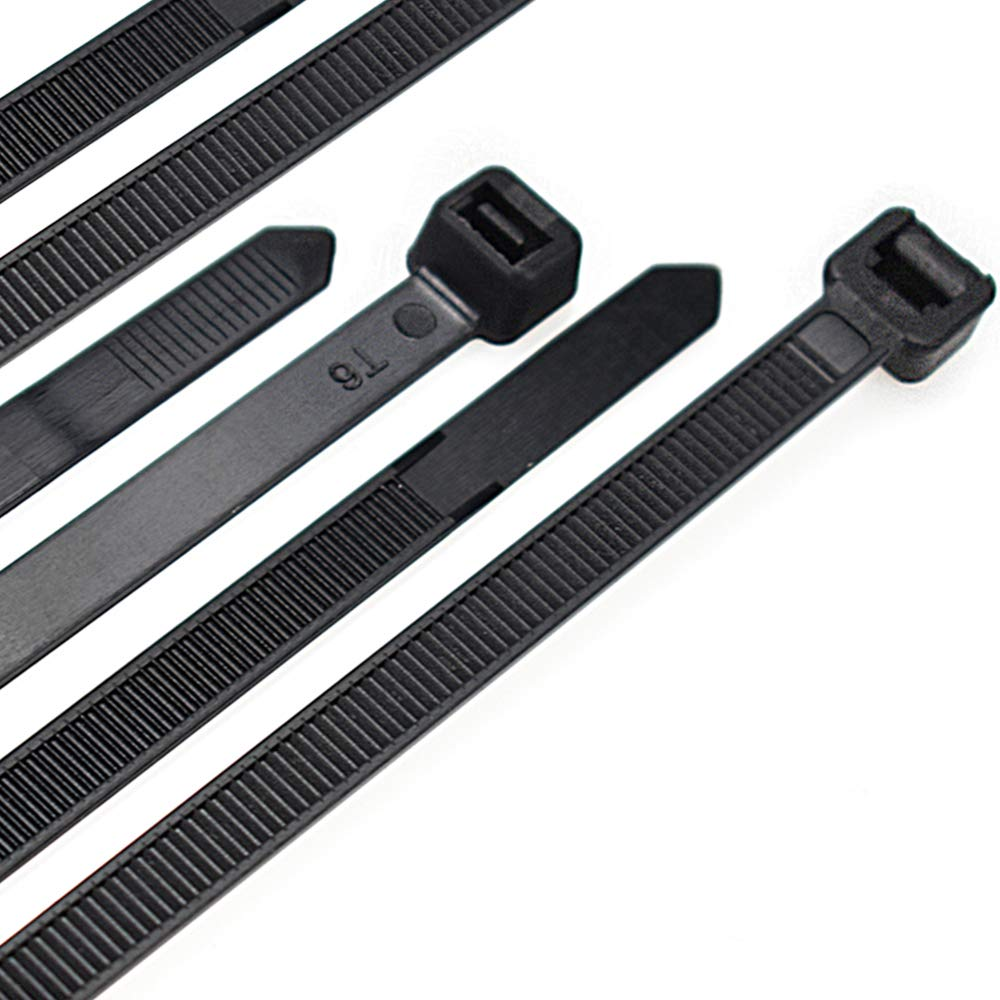Cable Zip Ties Heavy Duty 26 Inch Strong Large Black Zip Ties with 200 Pounds Tensile Strength 50 Pieces Long Durable Nylon Black tie wraps Indoor and Outdoor UV Resistant Quality Cable Ties