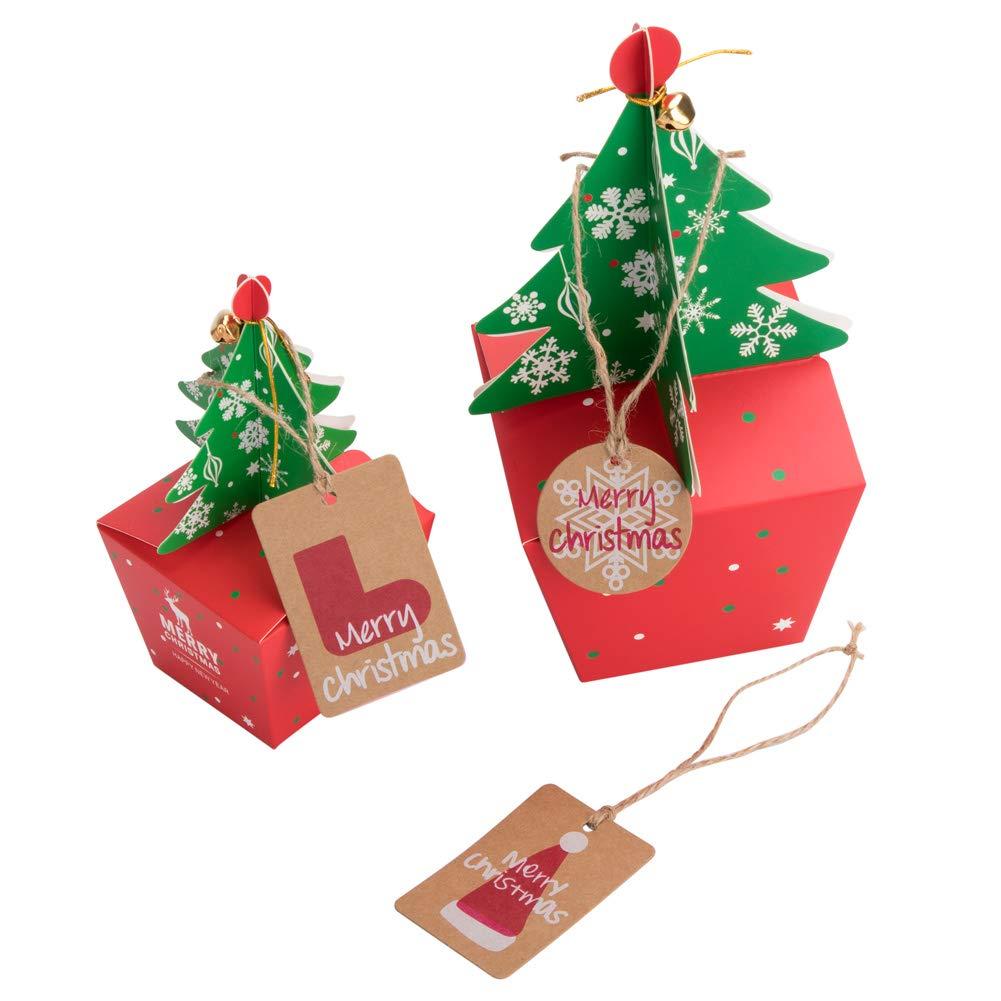 50 Stück Weihnachten Kraft Geschenk Anhänger Papieranhänger Tags ...