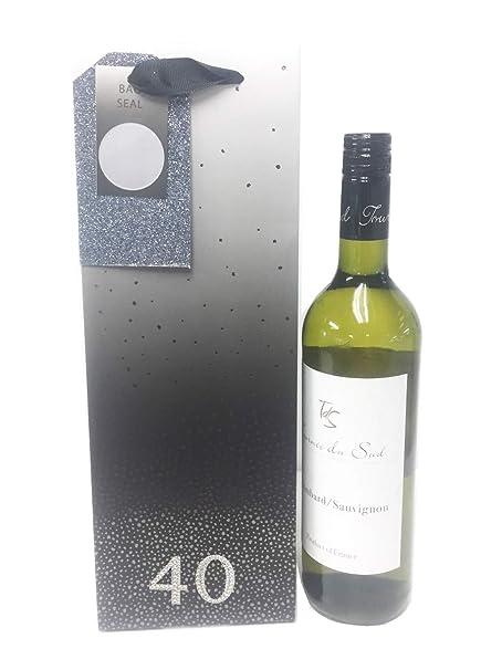 Bolsas de regalo para botella de 40 cumpleaños para hombres ...