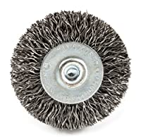 Forney 72725 Wire Wheel Brush, Coarse Crimped with 1/4-Inch Hex Shank, 1-1/2-Inch-by-.012-Inch