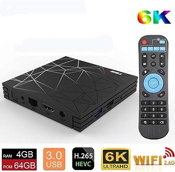 T95 Max Tv Caja Android 9,0 3D 4GB 32GB 64GB Allwinner H6 Quad ...