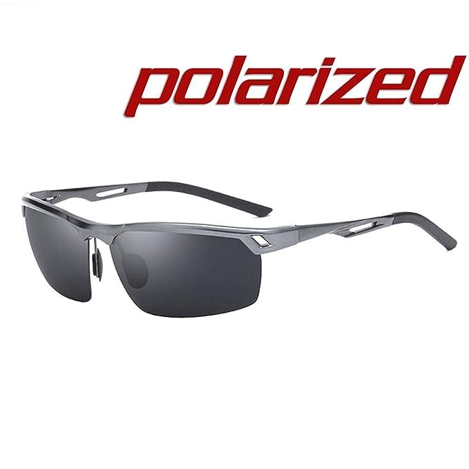 JULI Moda Polarizadas Deportes Gafas de sol Hombre Mujer Aleación de aluminio y magnesio Irrompible Marco: Amazon.es: Ropa y accesorios