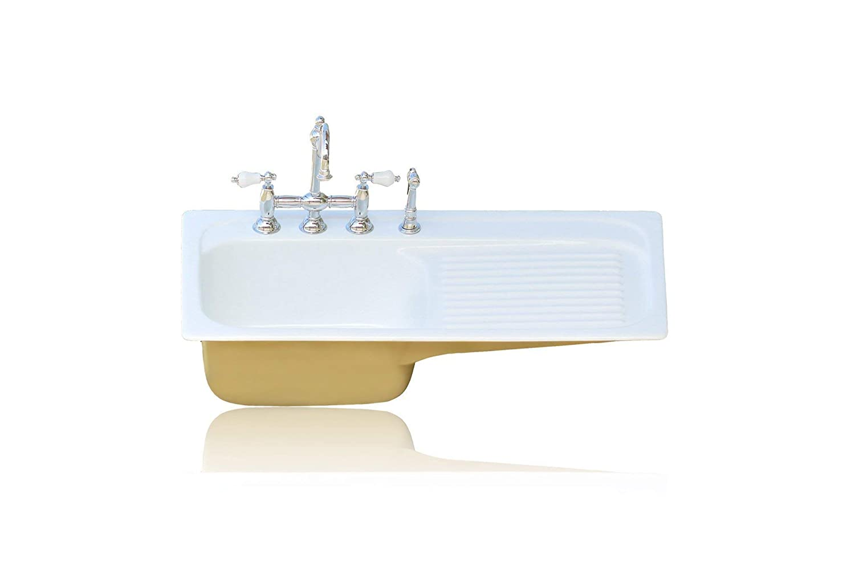 Amazon Com 42 Farm Sink Churlish Green Single Drainboard Drop In Cast Iron Kitchen Sink Package Handmade