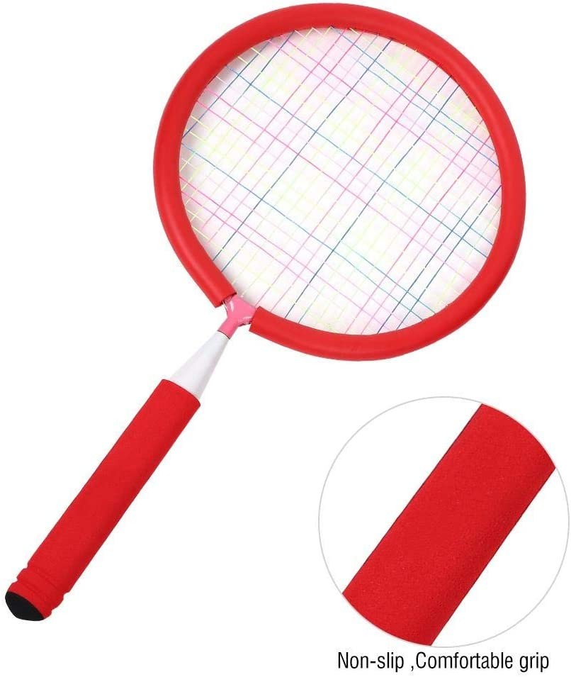 Alomejor Kids Badminton Rackets Set Badminton and Tennis Play Set for Kids Children Training Practice