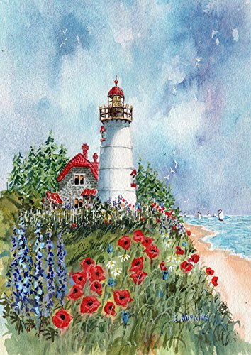 Toland Home Garden Chatham Light 28 x 40 Inch Decorative Summer Cape Cod Lighthouse Coastal House Flag