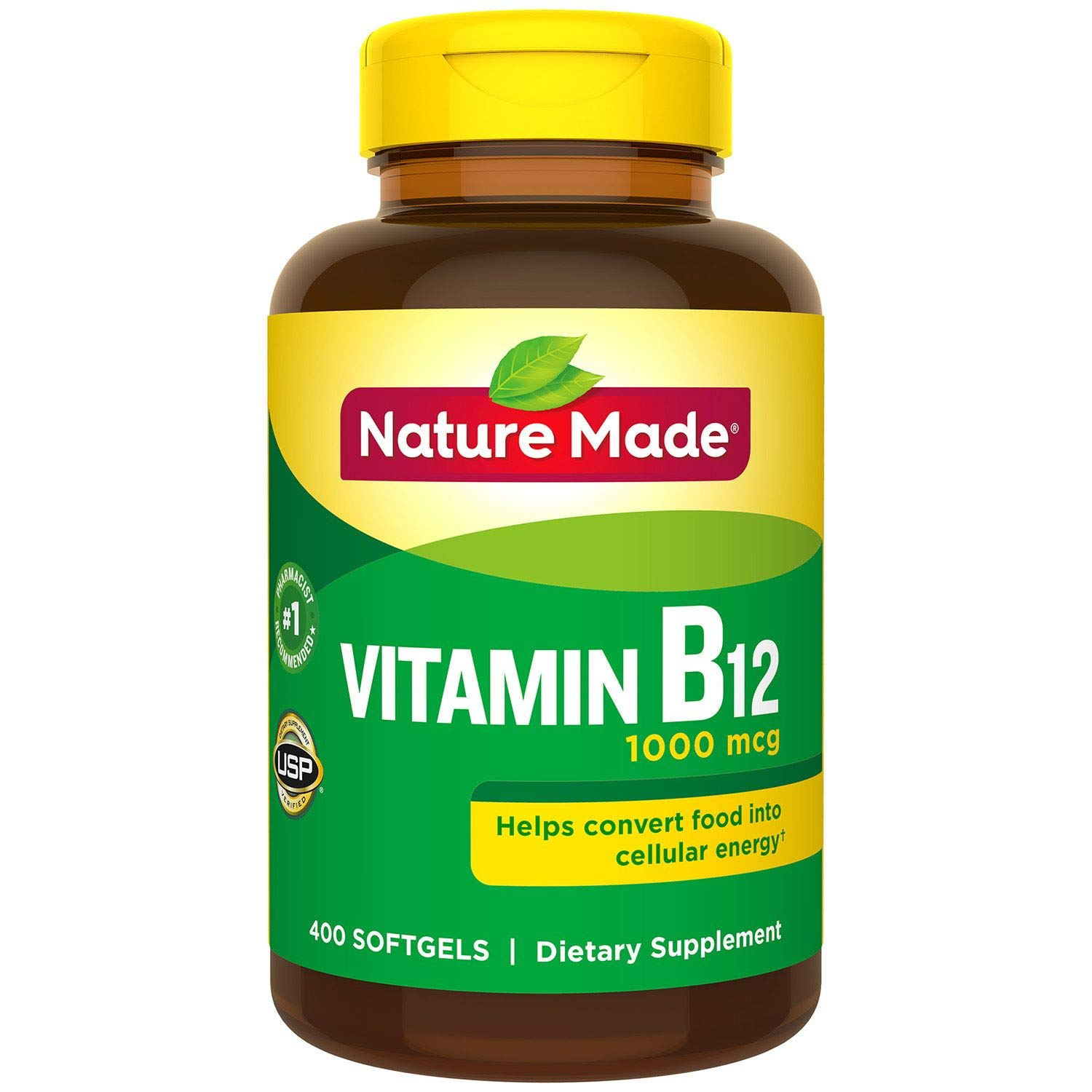 Nature Made B12 1000mcg 400 Softgels 2 Pack (Total 800)...