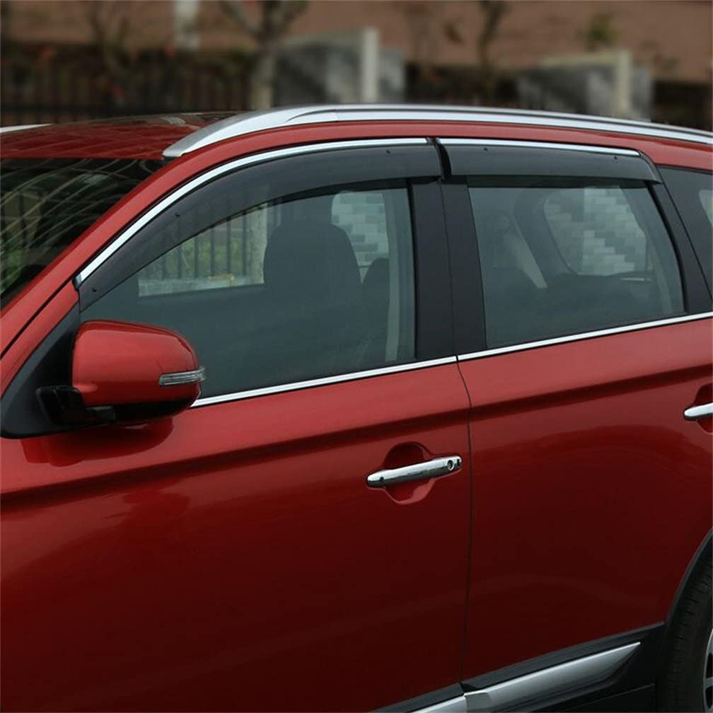4 For Mitsubishi Outlander 2014-2019 Window Door Visor Vent Sun Shade Rain Guard