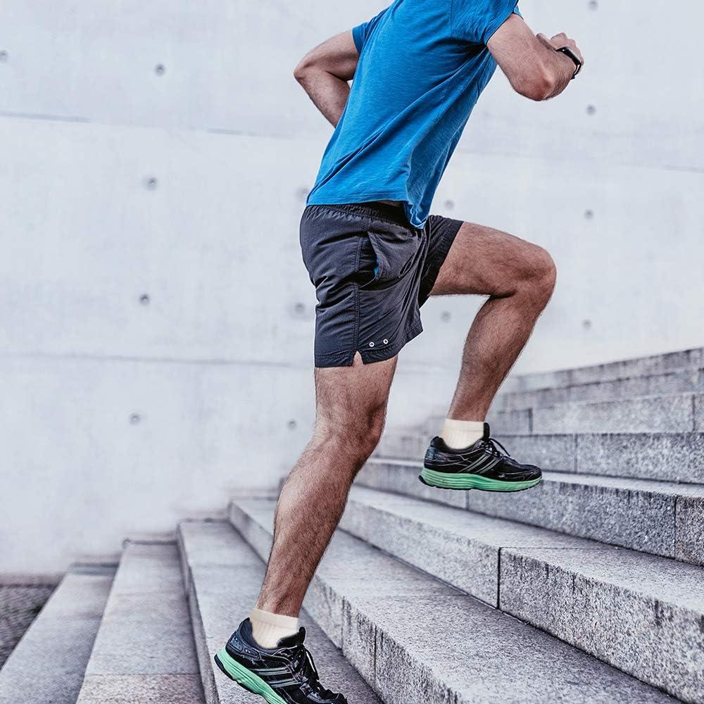 8-15 mm per uomini e donne 15-bianco rame S-M adatte per atletica -5 paia viaggi e medicinali Calze da corsa a compressione in rame