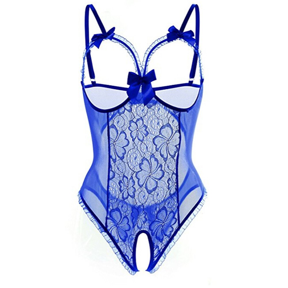KUKICAT Fashion Women Sex Attraction Lace Perspective with Silver Lingerie Underwear