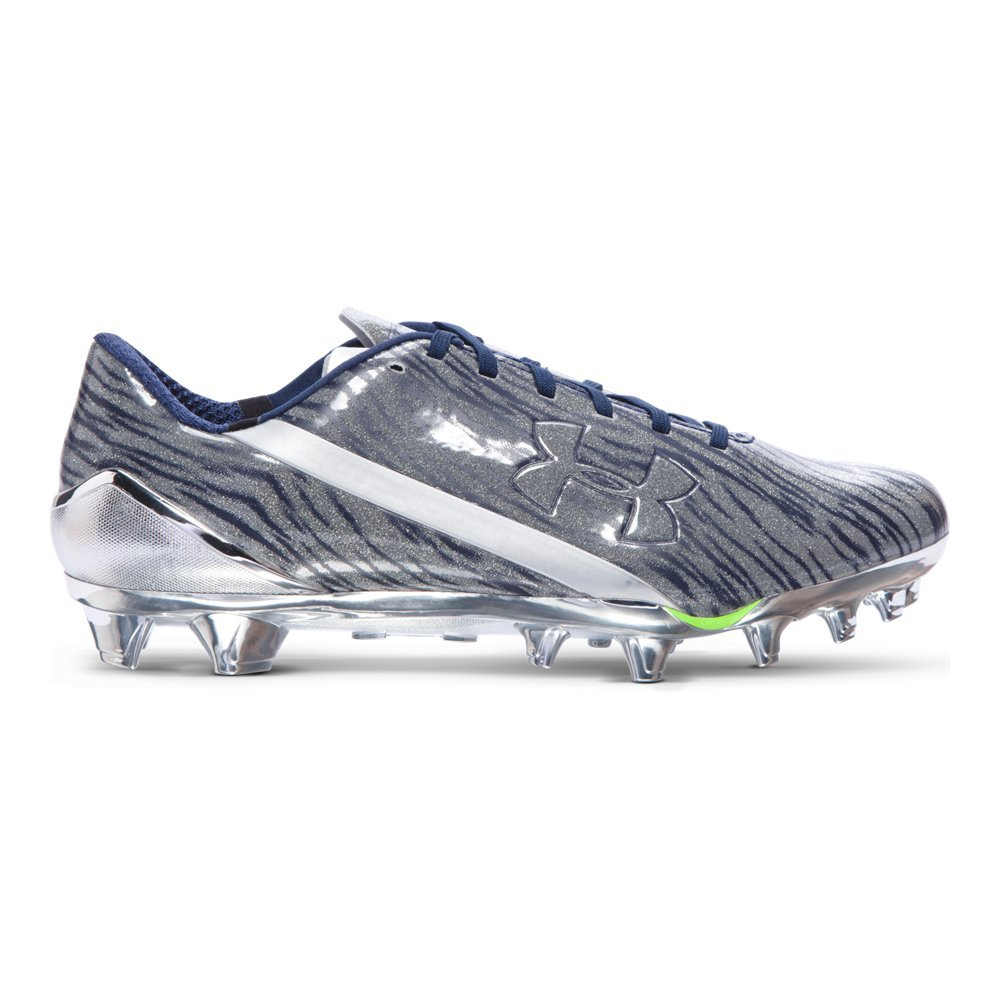 Under Armour Men's UA Spotlight Football Cleats B01D5LRRXS 8 D(M) US|Metallic Silver/ Midnight Navy