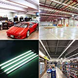 8FT LED Shop Light, 90W T8 Integrated LED