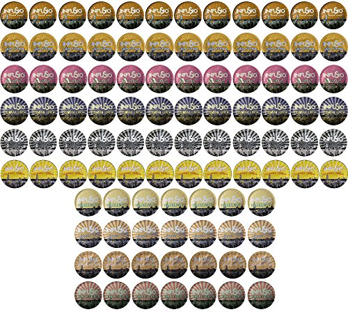 96 Count Variety (10 Amazing Blends) Single-serve Cups for Keurig K-cup Brewers - Premium Roasted Coffee (Variety, 96)