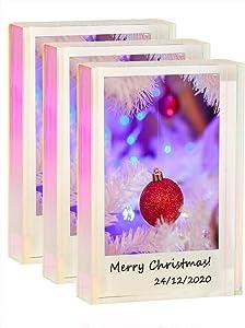WINKINE Instax Mini Frames 3 Pack, Rainbow Self Standing Polaroid Holder Polaroid Picture Frames for Home & Office Decor, Desktop Tiny Mini Photo Frames for Fujifilm & Polaroid Film
