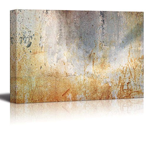 Abstract Rusty Iron Slate Composition Wall Decor ation