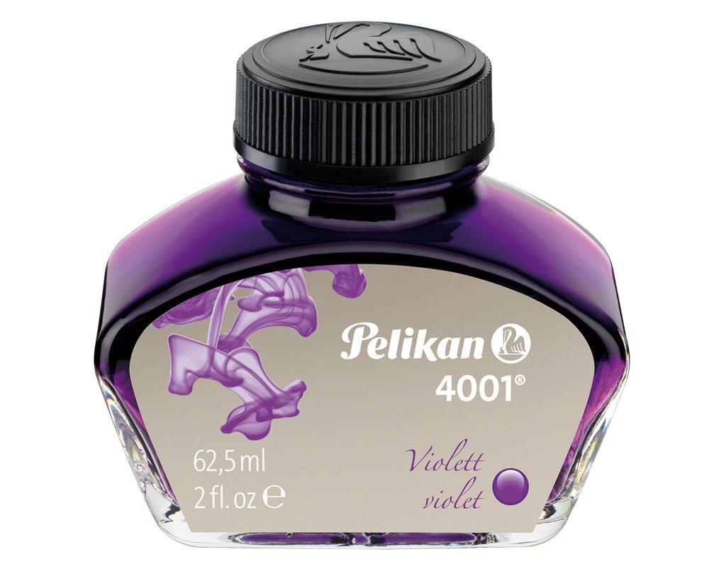 Pelikan 4001 Bottled Ink For Fountain Pens, Violet, 62.5ml,
