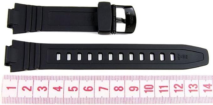 Casio Bracelet de Montre Noir Bande 14mm AQ-180W,W-213 10212268