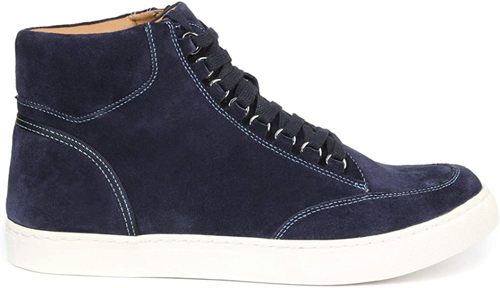 GBX Men's Slack Fashion Sneaker Navy Suede