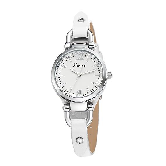 2017 reloj de cuarzo Nueva Jin Miou KIMIO de moda coreana peque?a forma femenina fresca - simple y relojes de se?ora con estilo: Amazon.es: Relojes