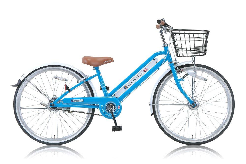 London Taxi(ロンドンタクシー) 子供用自転車 カゴ泥除け標準装備 カギライト付き 【22インチ/24インチブルー/ピンク】 B00W9O3WZU 22インチ|ブルー ブルー 22インチ