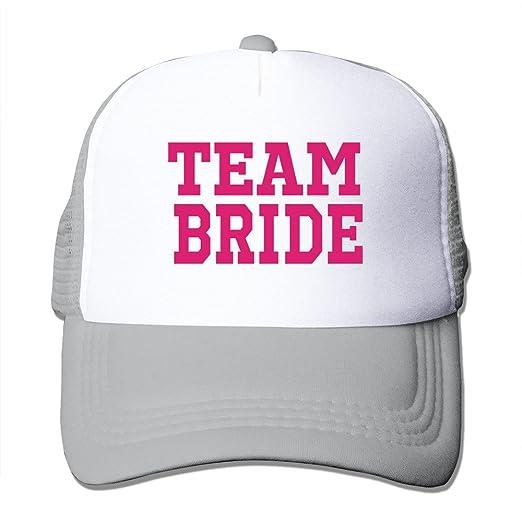 7074a72b0e4 Amazon.com  MAHN Team Bride Baseball Cap Ash One Szie With Unisex  (6362395313290)  Books