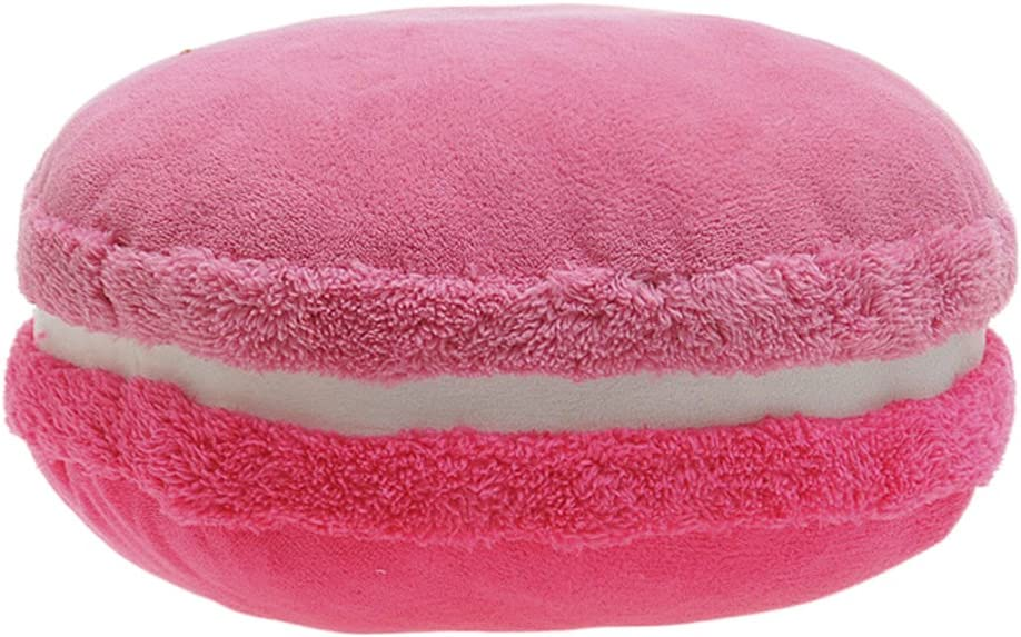 ChezMax Creative Macaron Shaped Cushion Plush Round Decorative Throw Pillow 14.5 X 5.9 Gradient Pink