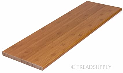48u0026quot; Prefinished Carbonized Horizontal Bamboo Stair Tread