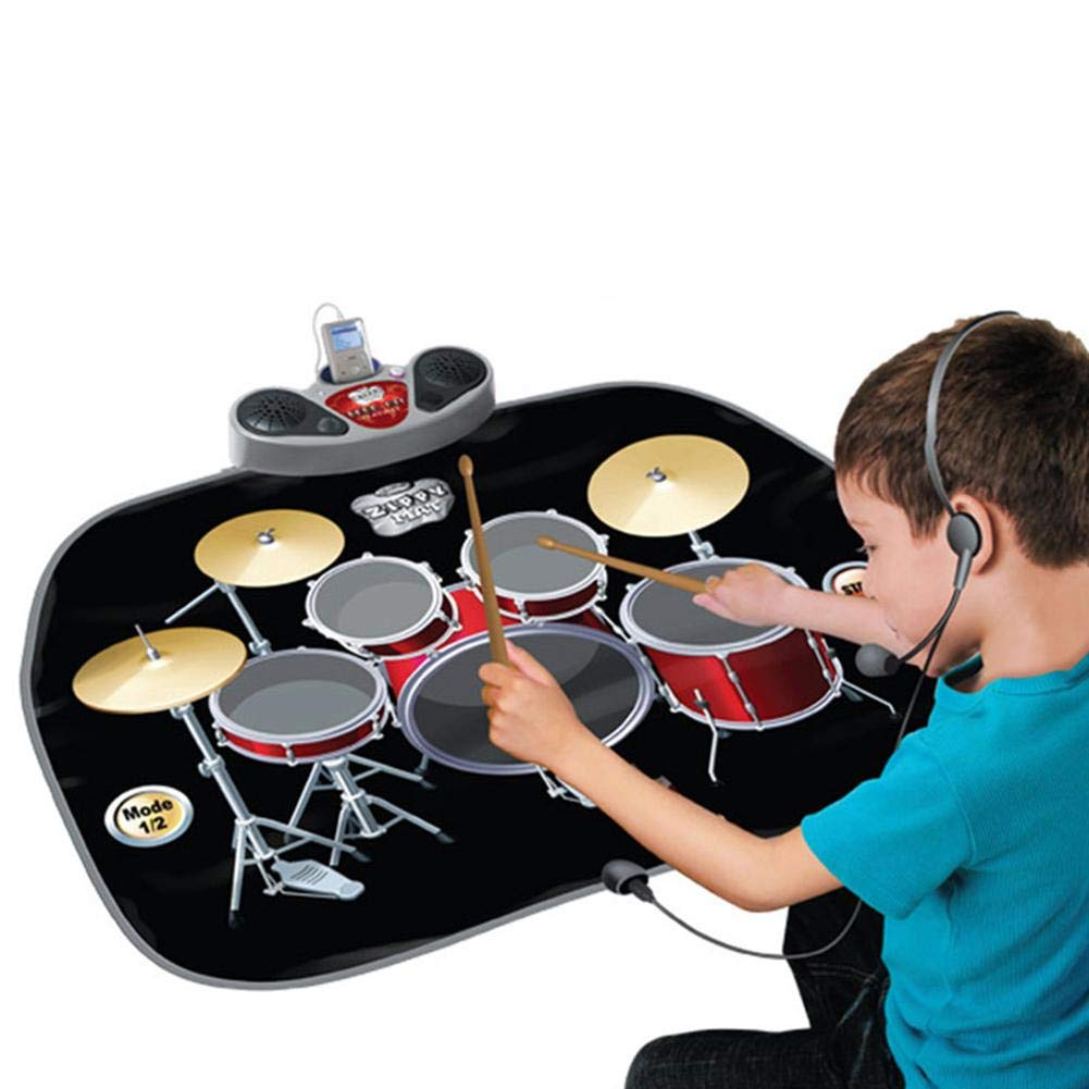 Music Mat Piano Mat 2-in-1 Functional Drum & Piano Foldable Music Mat Carpet Game Machine, Early Educational Toys for Kids, Dance and Learn by Wind-Susu (Image #6)