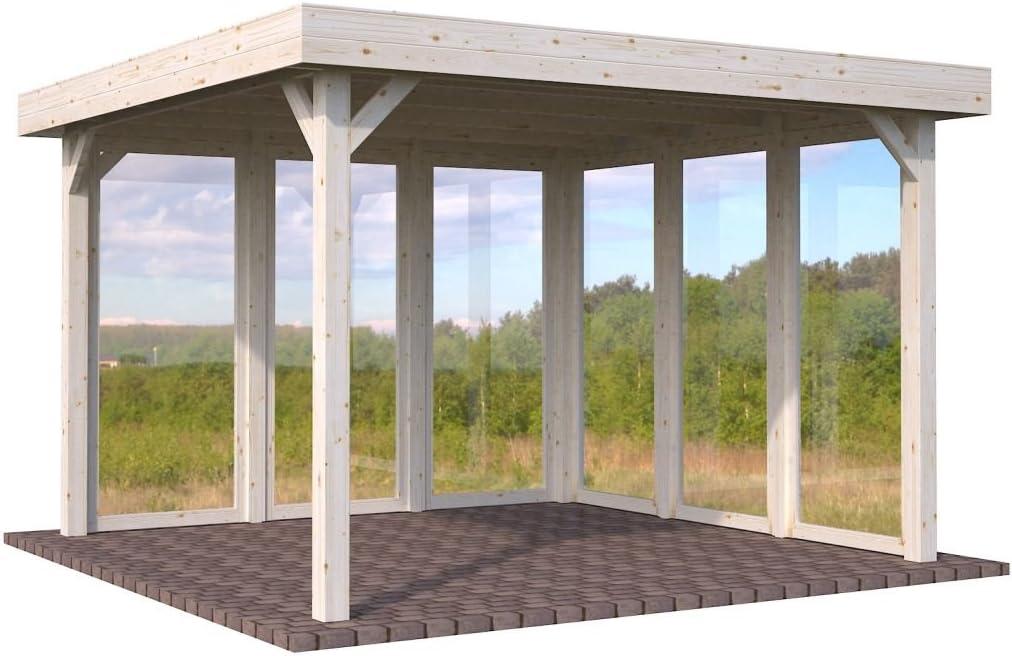 Pérgola Sorbus S15 natural, poste de 120 x 120 mm de grosor, superficie base de 12,2 m², techo de una sola pendiente: Amazon.es: Bricolaje y herramientas