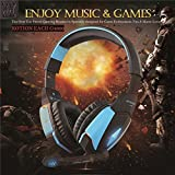 Kotion EACH G4000 USB Stereo Gaming Headphone Headset Earphone Headband with Microphone Volume Control LED Light for PC Game