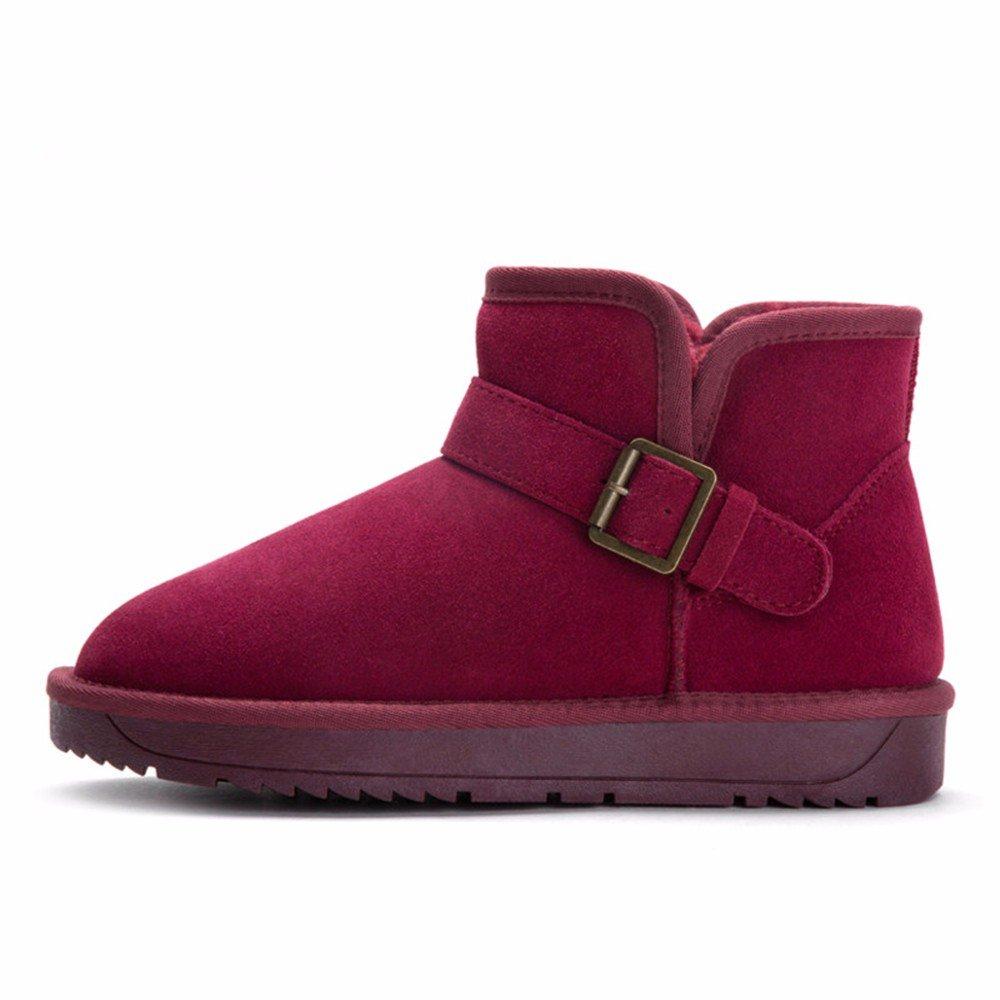 FLYRCX Der Der Der Schnee im Winter Stiefel Dame mit wasserdichten rutschfeste Schuhe cashmere thermische Europäische Größe  34-44 b001ff