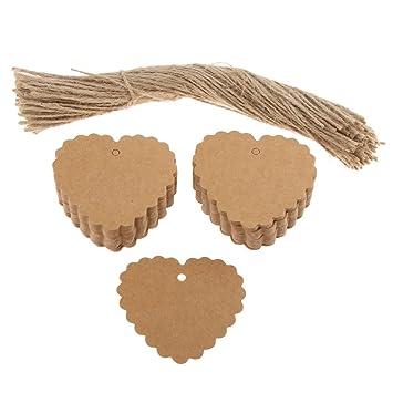 Baoblaze 100x Praktisch Geschenkanh/änger Hochzeit Dekoration Etiketten aus Kraftpapier Perfekt f/ür jede Situation