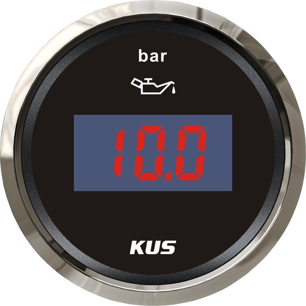 KUS DN52mm white Digital Oil pressure gauge 0-10Bar PN white KY15015
