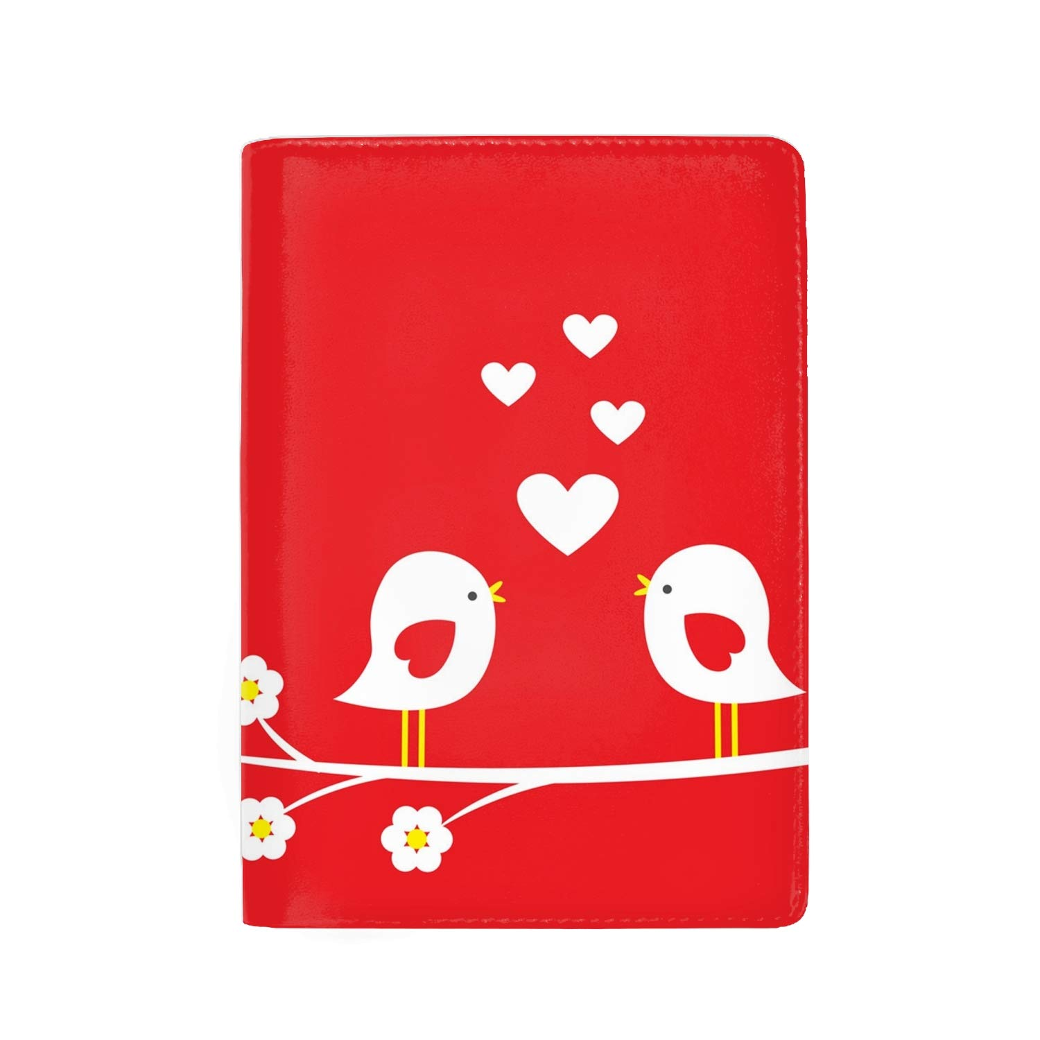 Watercolor Cute Passport Holder Cover Wallet RFID Blocking Leather Card Case Travel Document Organizer