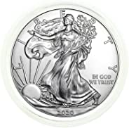 2020 - American Silver Eagle .999 Fine Silver in Direct Fit Air Tite with our Certificate of Authenticity Dollar Uncirculated
