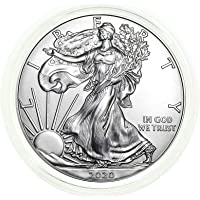 2020 - American Silver Eagle .999 Fine Silver in Direct Fit Air Tite with our Certificate of Authenticity Dollar Uncirculated Us Mint
