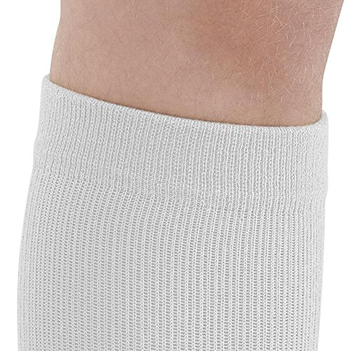 Ames Walker AW Style 632 633 Diabetic 8-15 mmHg Firm Compression Knee High Socks White Large - Seamless toe reduces pressure - Cushioned foot bed - Wicking material - Anti-microbial by Ames Walker (Image #5)