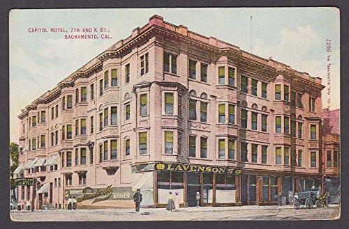 Lavenson's Capitol Hotel 7th & K St Sacramento CA postcard 1910s (Sacramento K St)