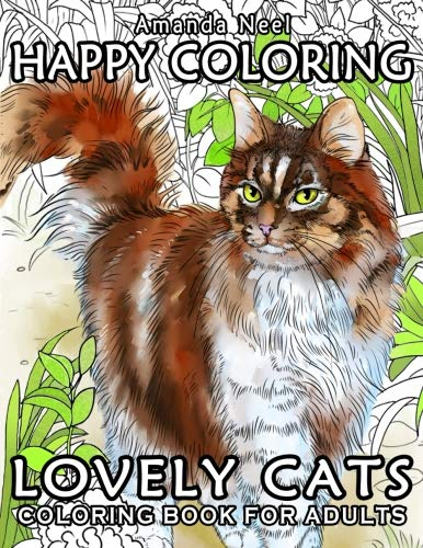 (Happy Coloring : Lovely Cats - Coloring Book for Adults)