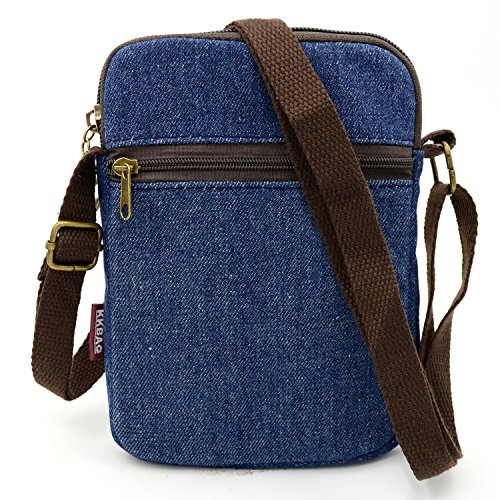 Bag Wallet bag Purse Mopaclle Cross Lace Body Women Cute Blue Pouch Mini Cell nbsp;Shoulder nbsp;Girls for Lady Phone Canvas fvqRO