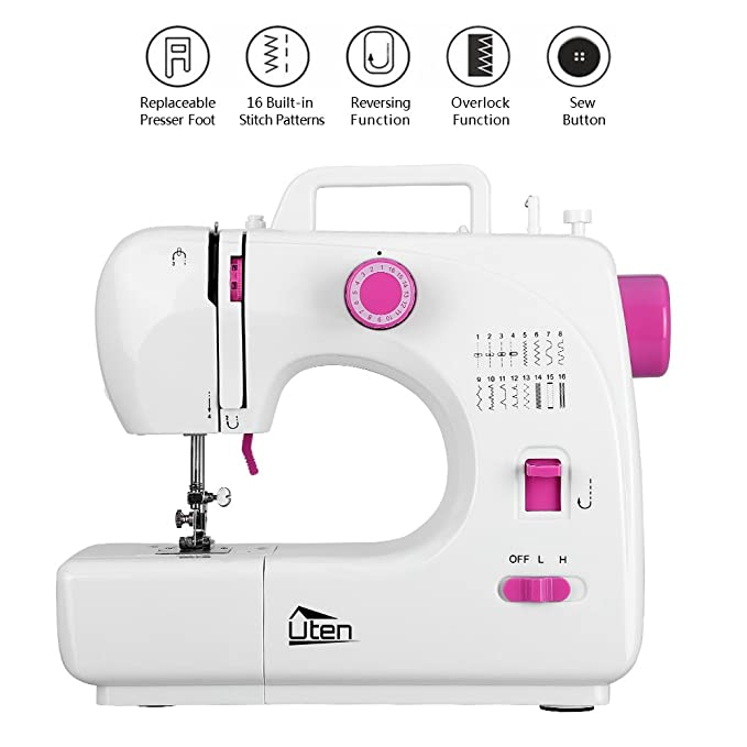 Amazon Portable Sewing Machine 40 Speed 40 Stitches Double Unique Are Overlocker Needles Different To Sewing Machine Needles