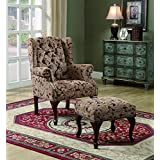 Coaster Queen Anne Light Brown Accent Chair