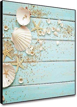 Wall Art Starfish And Seashell On Art Print // Canvas Print Poster Home Decor